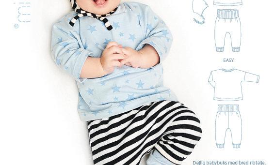 MINI KREA babysæt med hue str. 50-92 cm