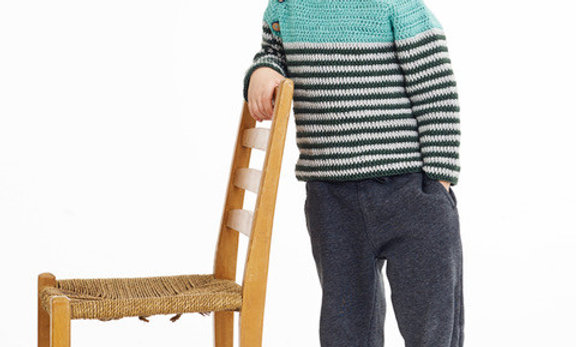 Drengesweater (hækleopskrift)