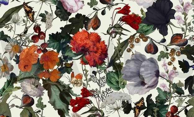 Viskose Bouquet White  (pr 25 cm)