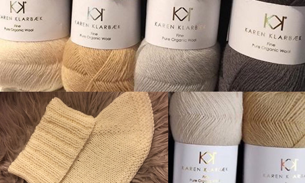 Halsedisse (kit) i økologisk uld