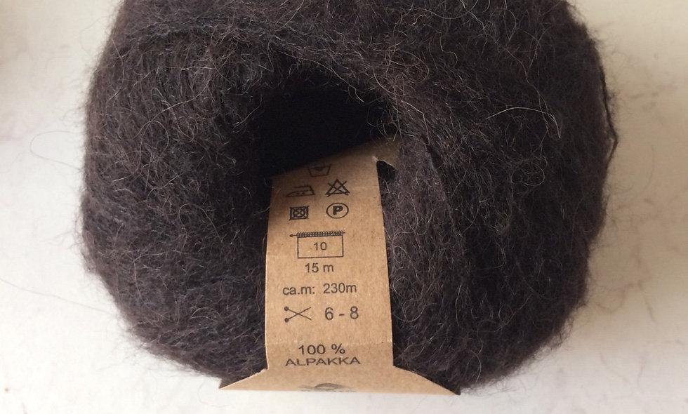 Alpakka (mørk brun)