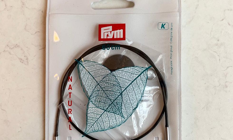 KnitPro Natural wire til kabelpinde 60 cm