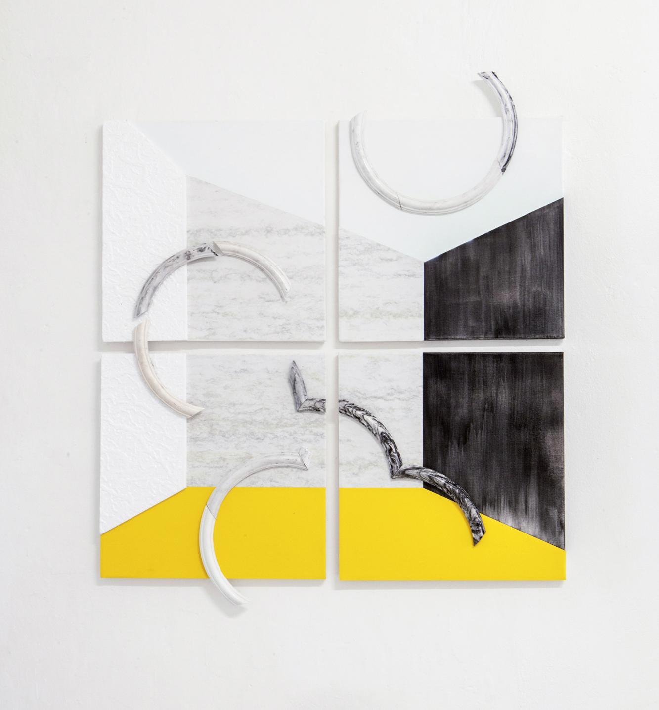 Raum VII Yellow, 2018, papir, polistiere
