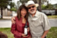 Phil Steinschriber and wife Diane with Cabernet Sauvignon