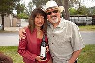 Phil and Diane Steinschriber with WaterMark Cabernet Sauvignon