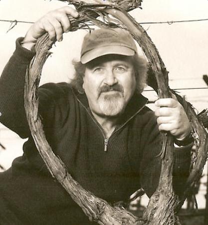 Phil Steinschriber in his Cabernet Sauvignon Vineyard