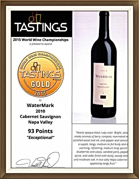 BTI TASTINGS scores WaterMark 93 Points