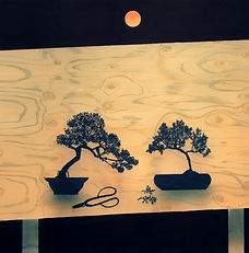 CaseyRoberts_garden table (bonsai pair).