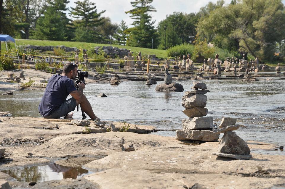Scott Thiel workin at Remic Rapids, Ottawa.