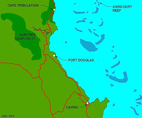 Port Douglas Cairns Map