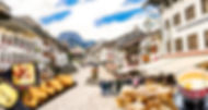 Gruyères Town Streets with Fondue and Raclette, Switzerland, onovita