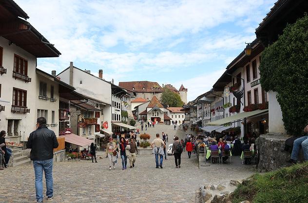Gruyères Town Streets, Switzerland, onovita