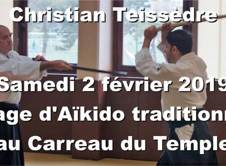 Aïkido traditionnel dirigé par Christian Teissèdre au Carreau du Temple: Engagement et combat!