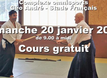 Cours gratuits d'Aïkido au Stade Français, un dimanche par mois! Ikyo, Ikyo, Ikyo et galette...
