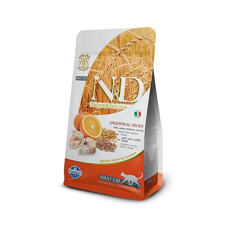 N&D Ancestral Grain - Torsk & appelsin