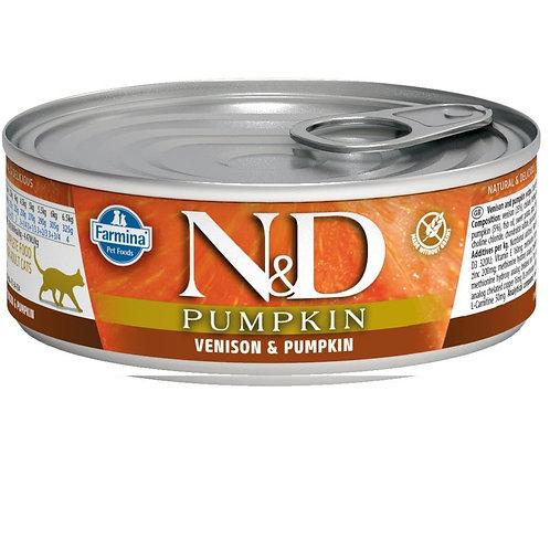 FARMINA N&D CAT PUMKIN VENISON 80G