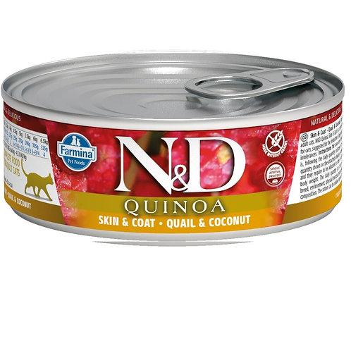 FARMINA N&D CAT QUINOA QUAIL&COCONUT 80G