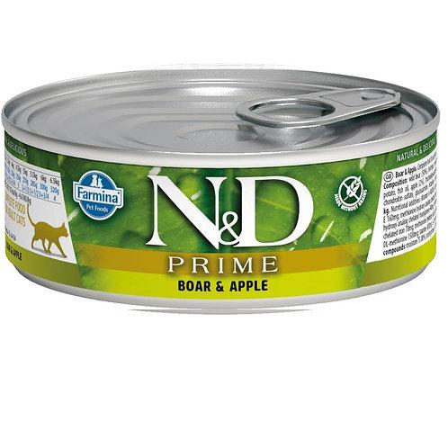 FARMINA N&D CAT PRIME BOAR&APPLE 80G