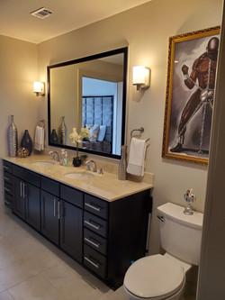 Styled Master bathroom