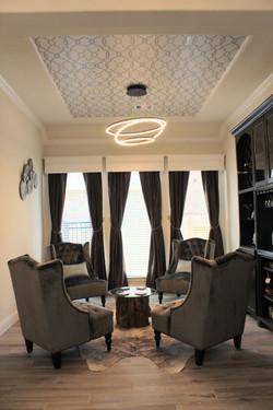 Luxe wine room