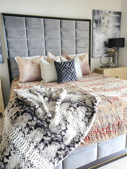 Luxe bachelor pad master bedroom