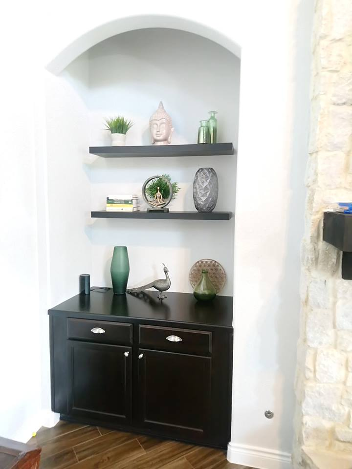 Shelving decor curation