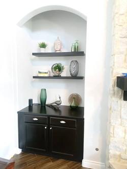 Shelving decor curation