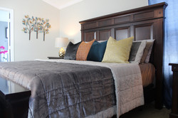 Bed Pillows and wall decor