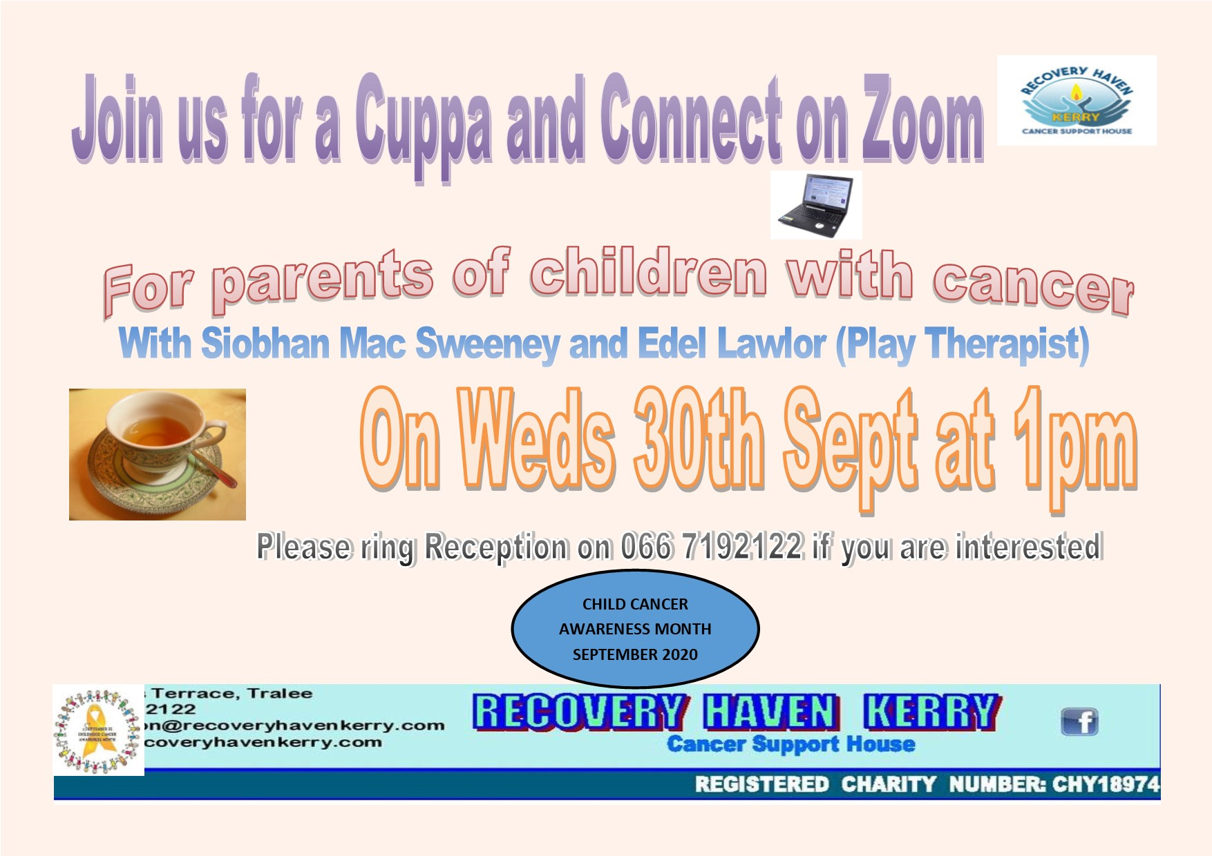 Cuppa and Connect on Zoom