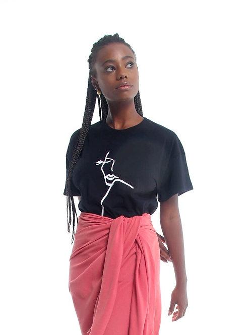 T-shirt Silhouette Preta
