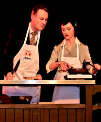 Live cooking on stage