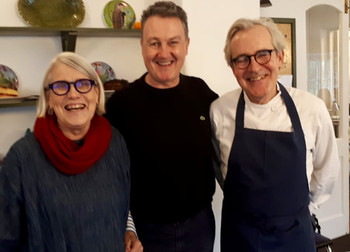 Mal with Darina and Paul in Ballymaloe