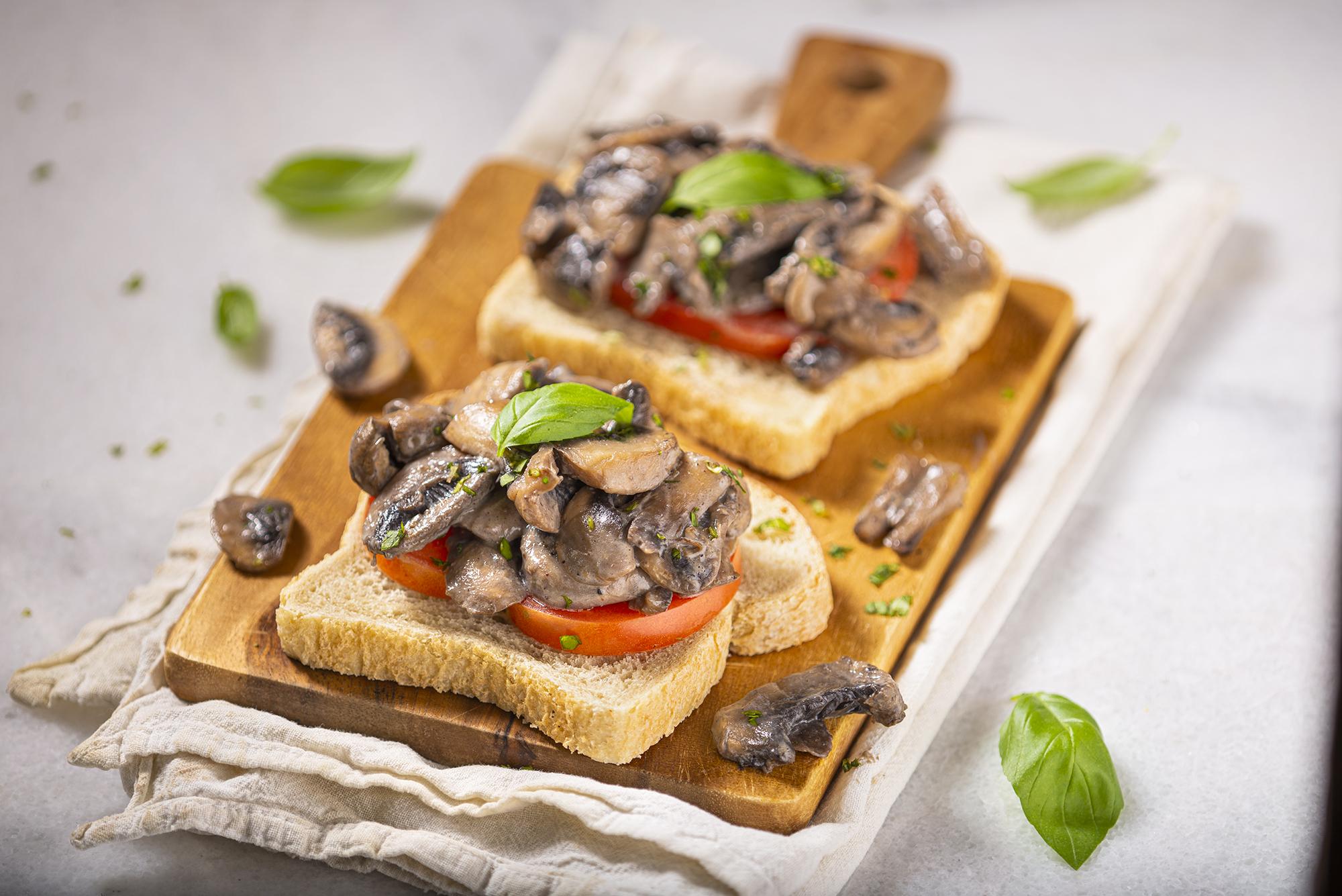 Cream of mushroom toast