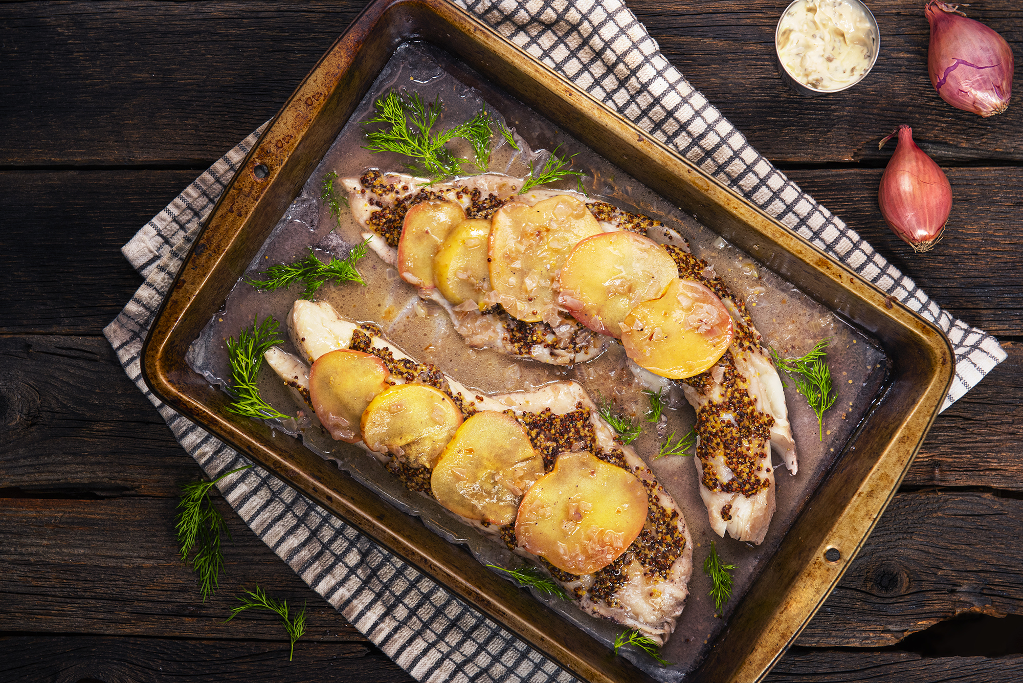 Fresh Haddock with Apples