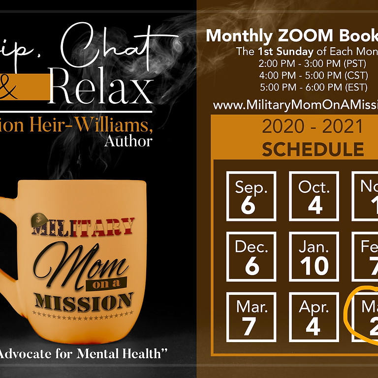 Sip, Chat & Relax - Monthly Zoom Book Club