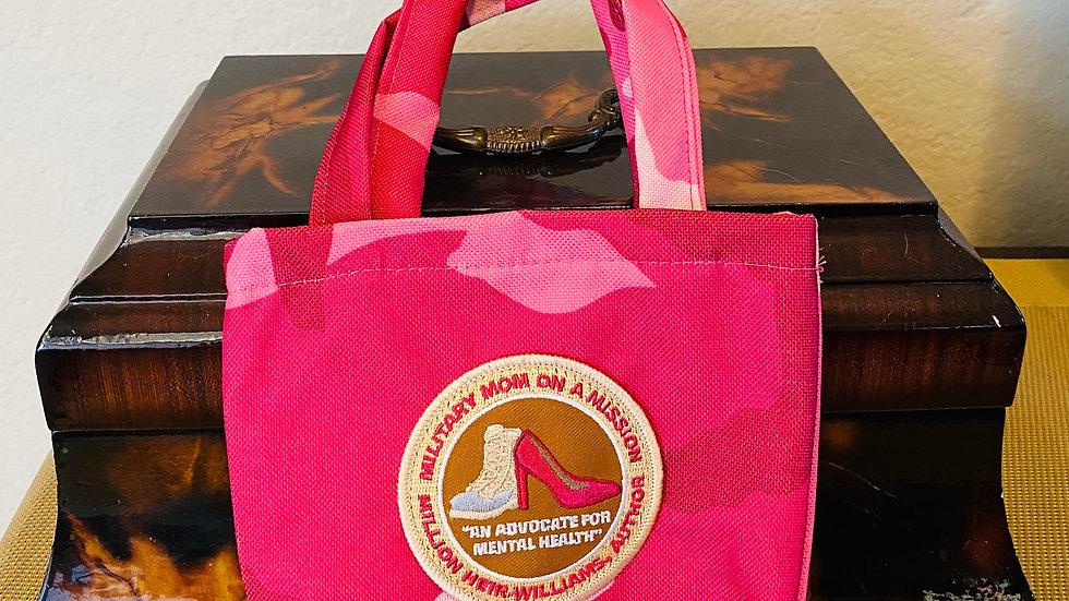 Single Collection Mini Fuschia Tote Bag-#101-SF