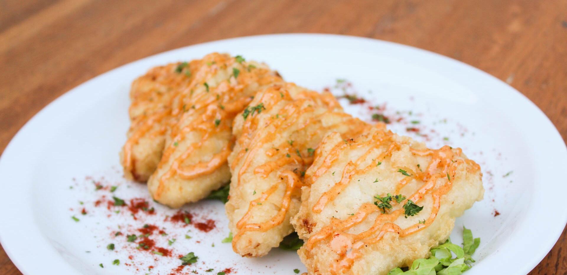 Mozzarella Jalapeno Grit Fritters