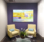 E_Reception Purple Wall_with painting.jp