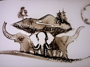 Elephants that hold the Earth