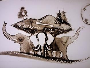 Ziloņi, kas tur Zemi
