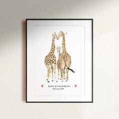 Newborn Giraffe Print