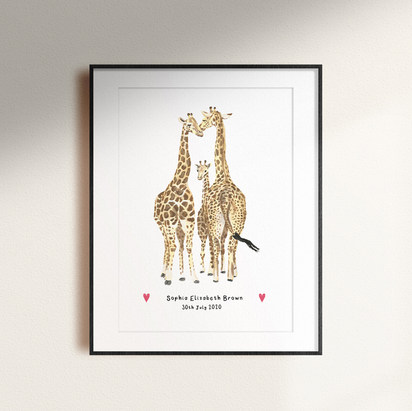 Newborn Giraffe joins the family