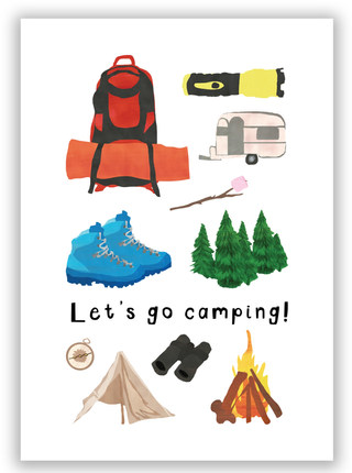 Let's go camping! Print
