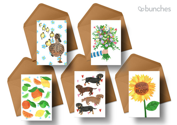 Greetings Cards for Bunches