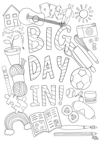 Big Day In Colouring sheet for BBC Radio Nottingham