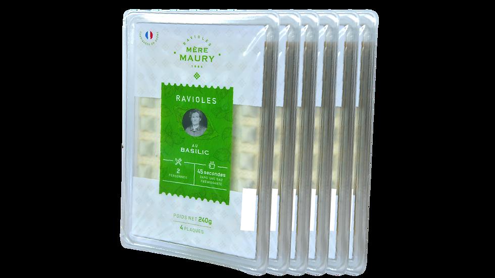 Ravioles au Basilic - 6 x 4 plaques (5,17€ la barquette)