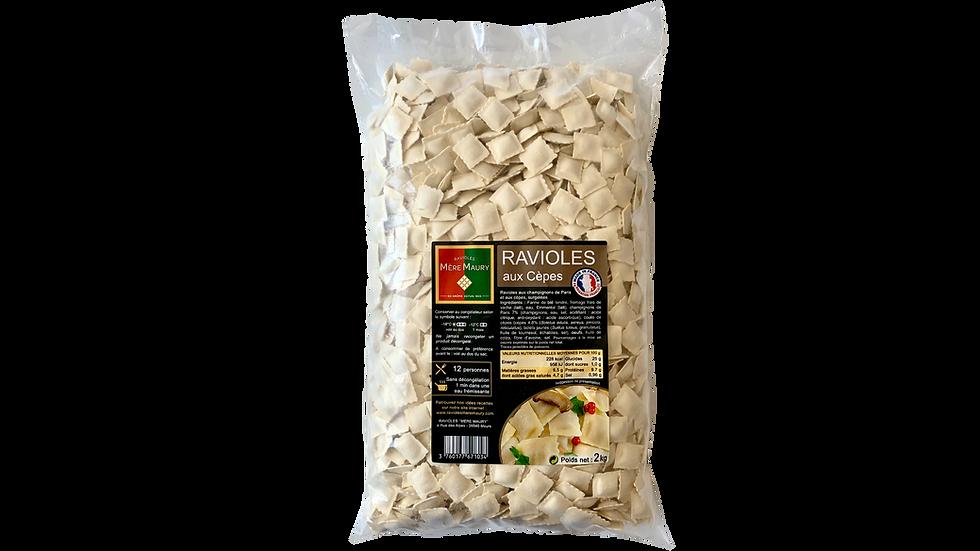 Ravioles aux Cèpes - surgelées - 2kg