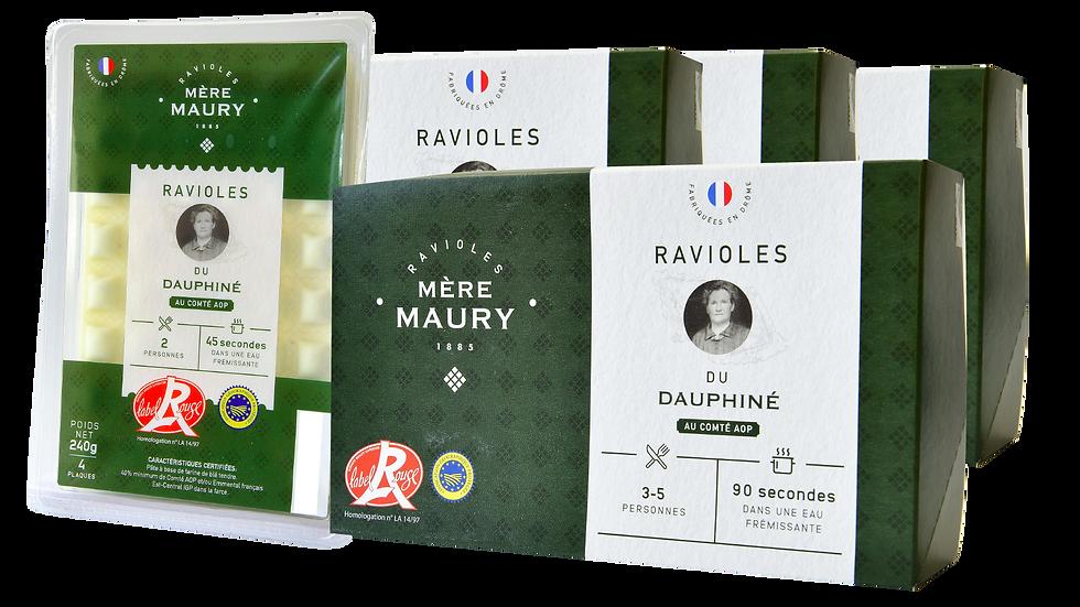 4 boîtes de 9 plaques + 1 bq Ravioles Label Rouge 4pl offerte = 9,75€/boîte