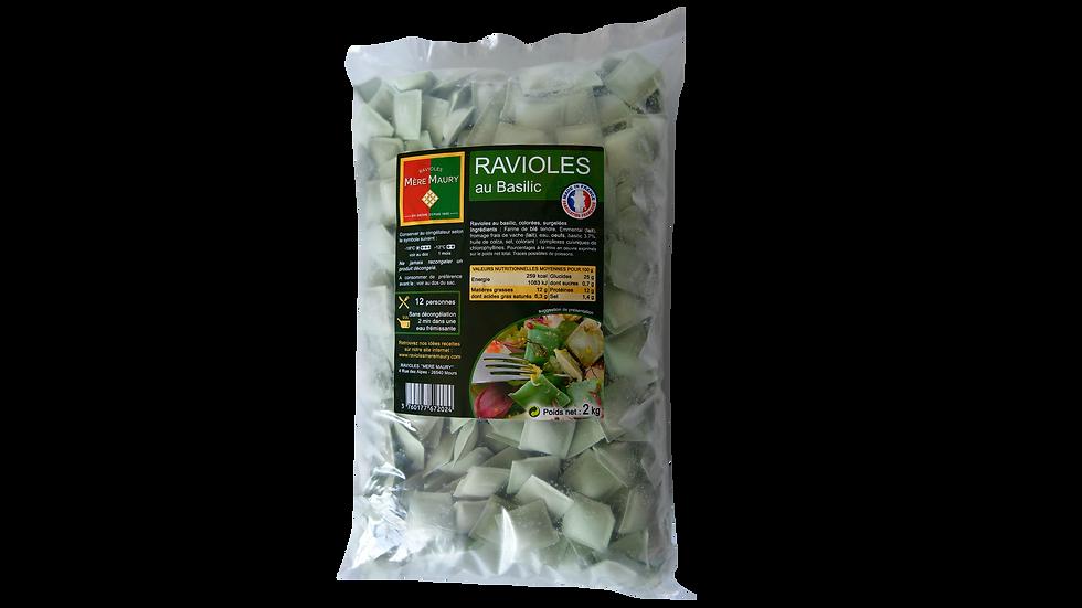 Ravioles au Basilic - surgelées - 2kg