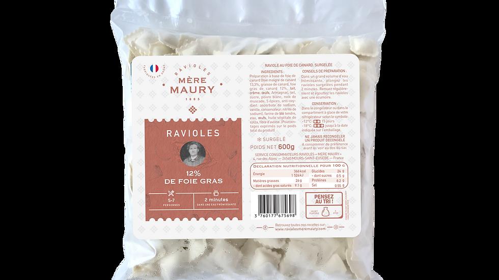Ravioles 12% de Foie gras - surgelées - 600g